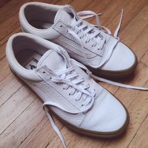 DOPE white leather gum sole Madewell x Vans 7.5